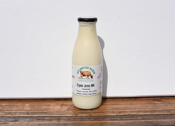 Organic Ivy House Farm Whole Fat Milk 1 L