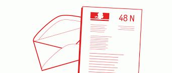 Qu'est-ce qu'une lettre 48N ?