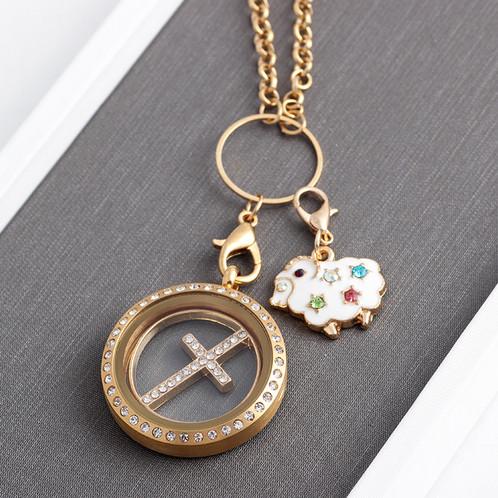 Colourful rhinestone sheep charm pendant for floating locket weight 23g aloadofball Choice Image