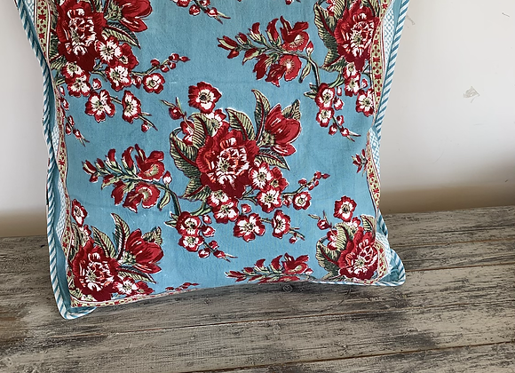 Red Flowers on Turquoise
