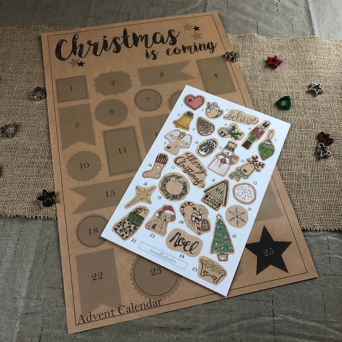 """Christmas is Coming"" Sticker Advent Calendar"