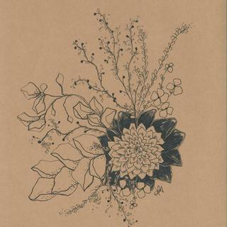 Black Petal Print