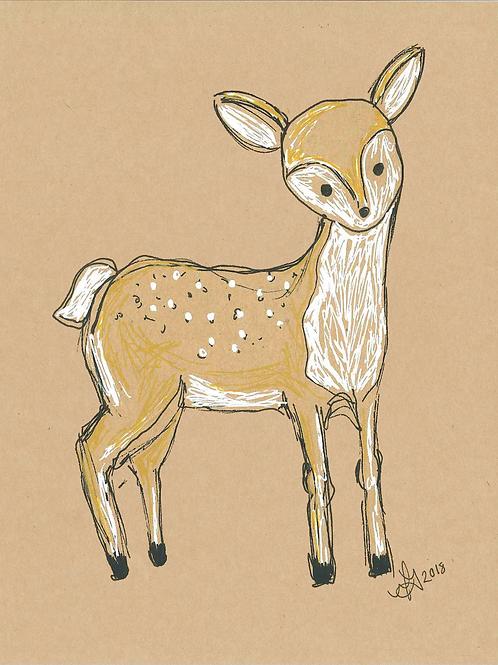5x7 Deer Print