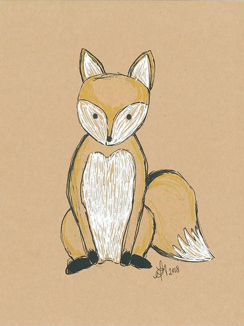 5x7 Fox Print