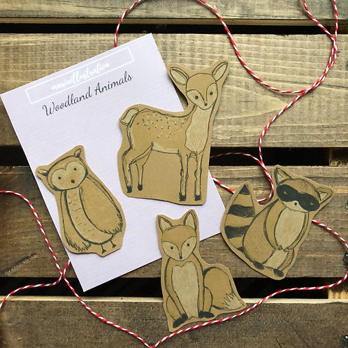 Woodland Animals Set of 4