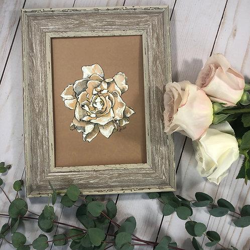 5x7 Rose Print