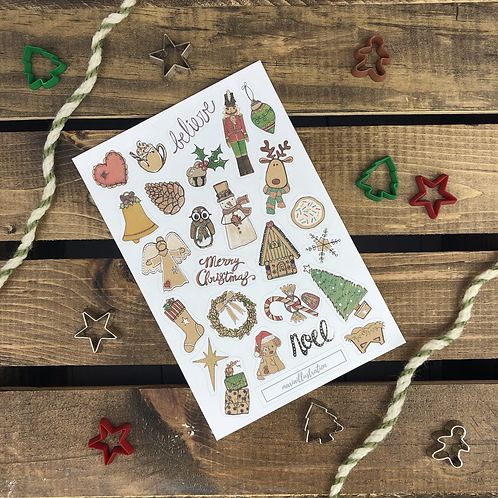 Rustic Christmas 4x6 Sticker Sheet
