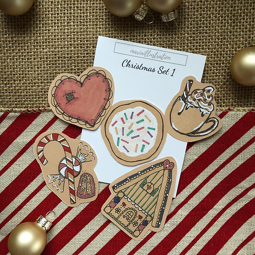 Christmas Stickers Set 1