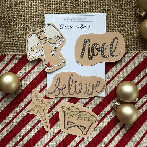 Christmas Stickers Set 3