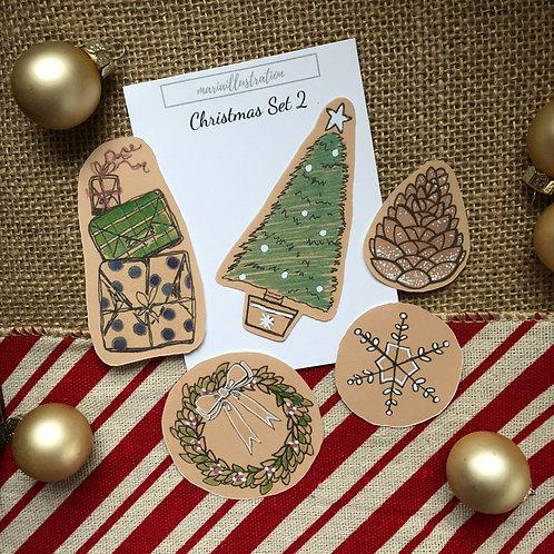 Christmas Stickers Set 2
