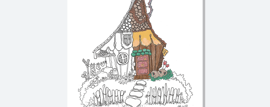 Fairy Houses Coloring Book
