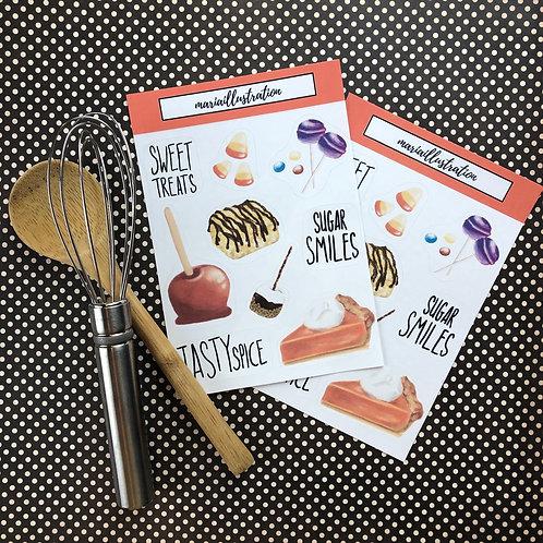 Tasty Spice Sticker Sheet 4x6