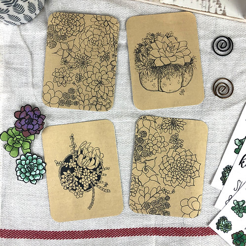 Sweet Succulents 3x4 Journaling Cards