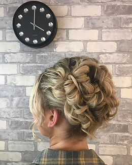 Beautiful hair up on Amber today created