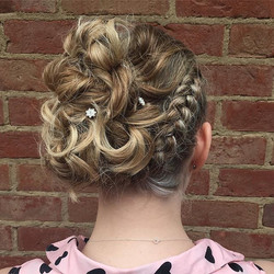 Lovely prom hair up by our Graduate Styl