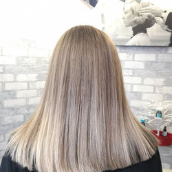 Lovely creamy blonde Balayage created by