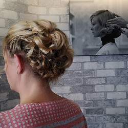 A lovely Hair up created by our stylist