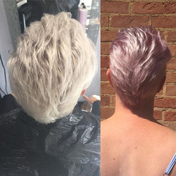 Lovely minky pink done by our Graduate S