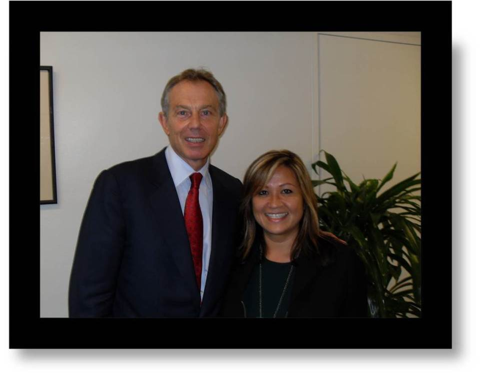 With Tony Blair at UNHQ - Sept 2008