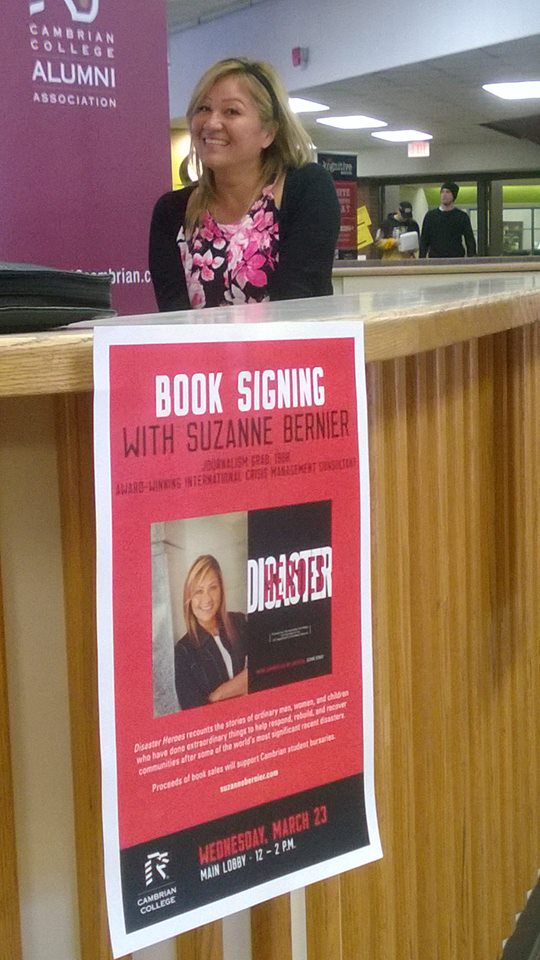 Cambrian College book signing April 2016
