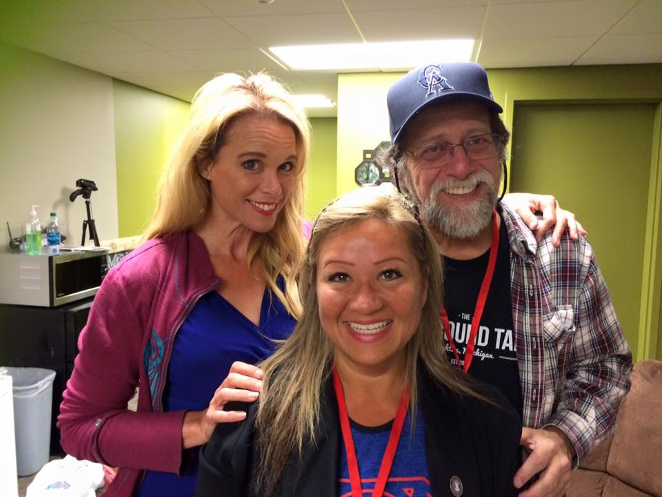 With Len Wein and Chase Masterson at the