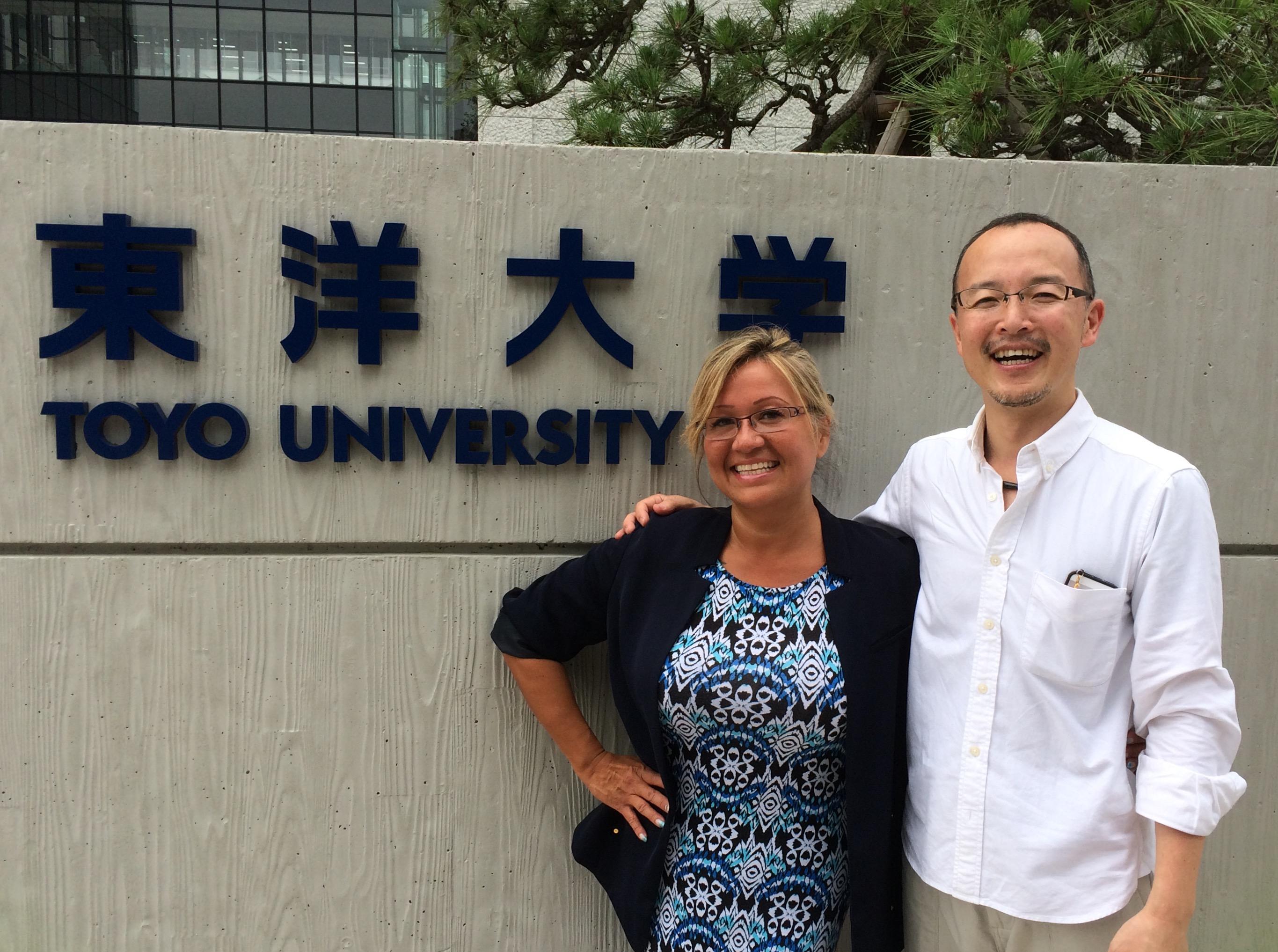 Speaking at Toyo University, Tokyo