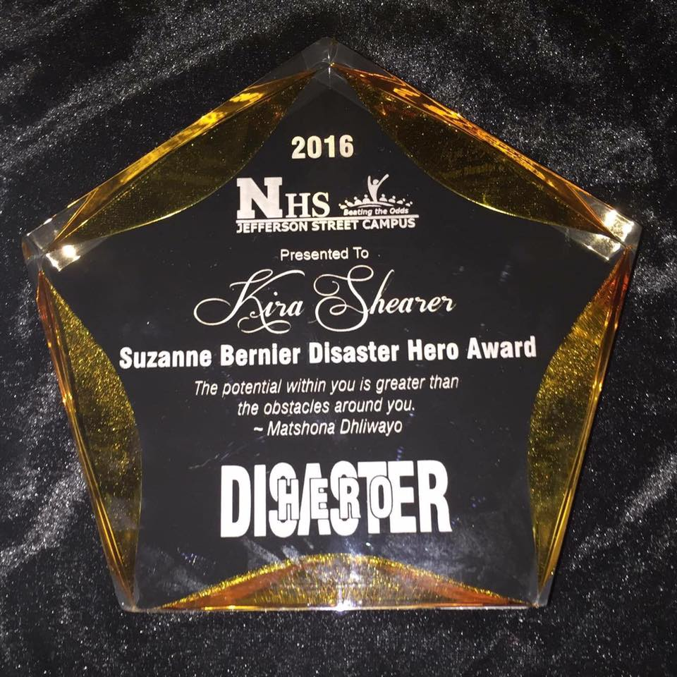 Disaster Hero Award May 2016