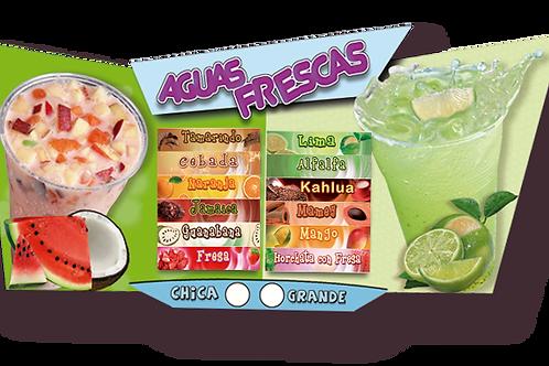 menu individual aguas frescas R-105