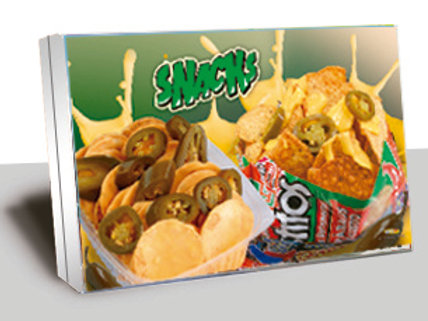 CUADRO LUMINOSO  snacks  70X45cm   R-104