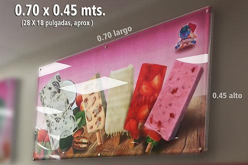 anuncio luminoso ultradelgado .70x.45 mts