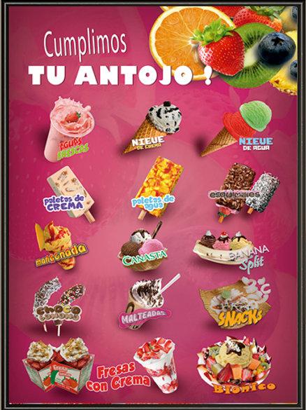 Poster STANDARD SIN LUZ Menu Paletero 62x81 cm
