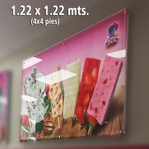 ANUNCIO LUMINOSO ULTRADELGADO 1.22 X 1.22 MTS.