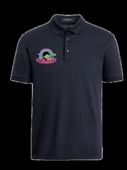 camisa tipo polo bordado con logo