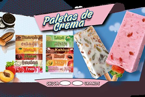 menu individual paletas de crema R-105