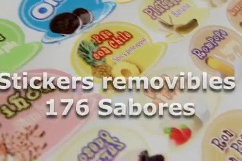 JUEGO DE 200 STICKERS DE SABORES INTERCAMBIABLES