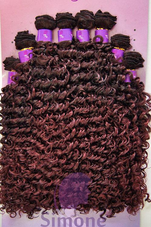 483 - Cabelo Orgânico Samba Curly - Preto com marsala