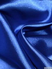 Satin bleu électrique