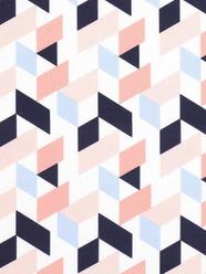 Géométrique bleu et rose