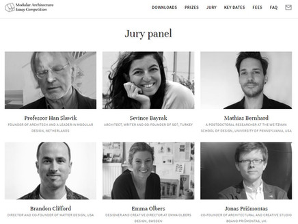 """Jury member at the """"Modular Architecture Essay Competition"""""""
