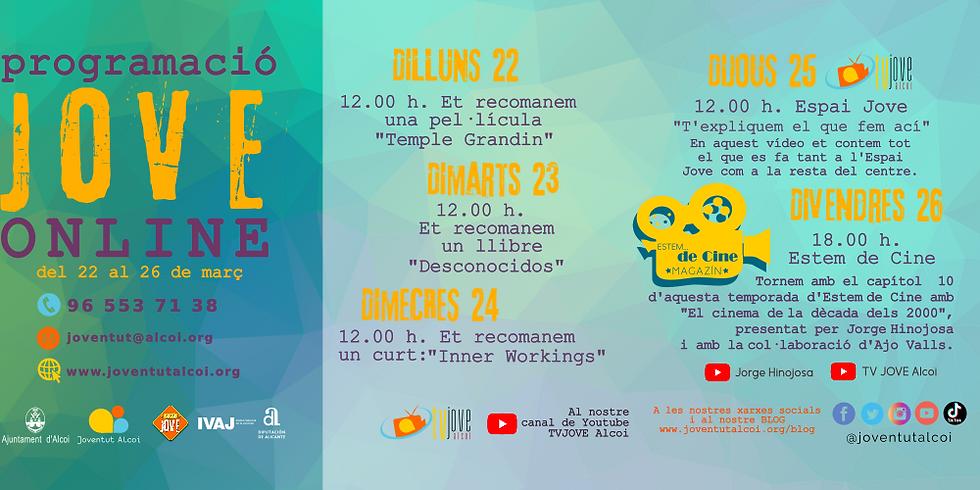 PROGRAMACIÓ ONLINE SETMANA DEL 22 FINS AL 26 DE MARÇ   (1)