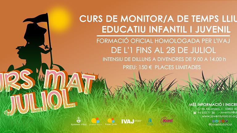 CURS DE MONITOR/A DE TEMPS LLIURE EDUCATIU INFANTIL I JUVENIL (MAT)