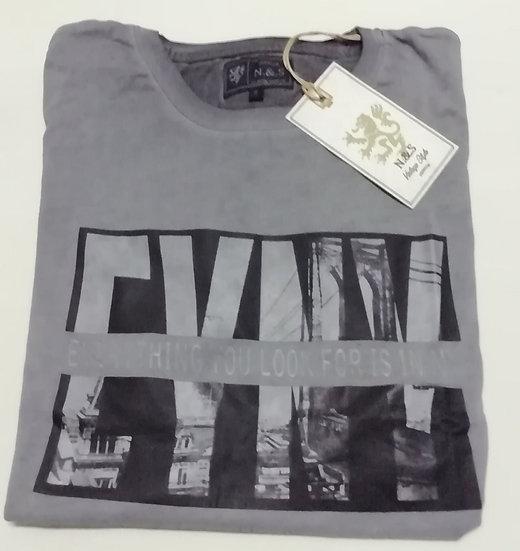 Camiseta algodón casual N&S