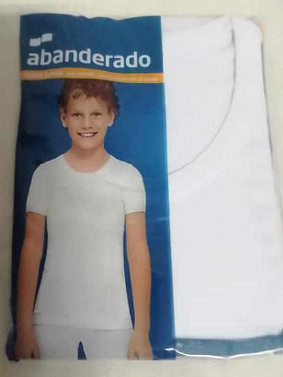 Camiseta interior  manga corta niño Abanderado