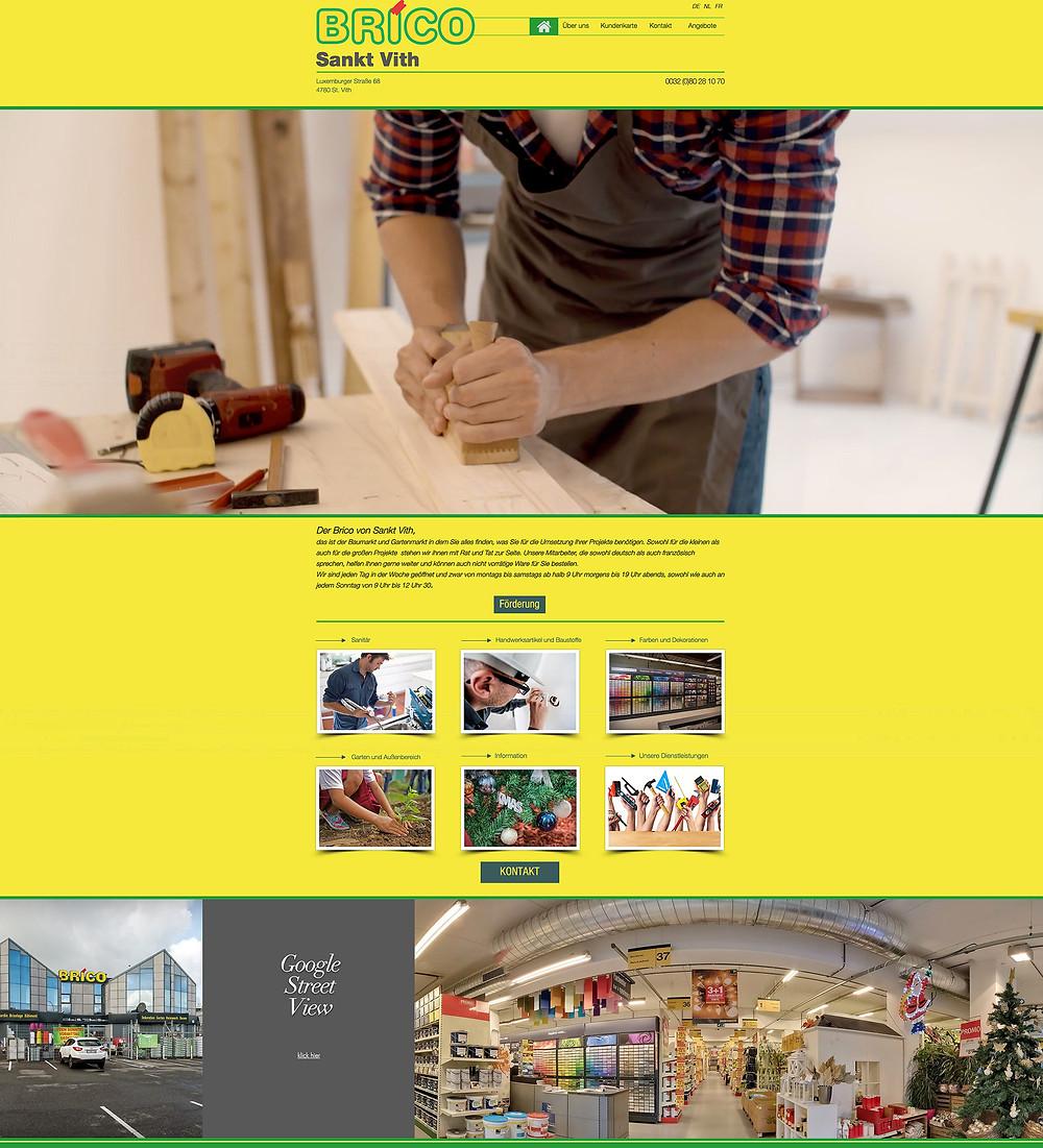 Création du nouveau site de Brico St.Vith - réalisation by Studio Maybe
