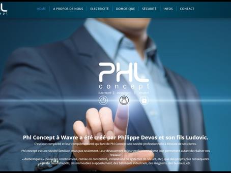 Création du site internet PHL Concept