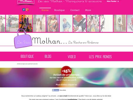 """Création du site de la boutique Molhan """"Maroquinerie & Accessoires"""" à la Roche-en-Arde"""