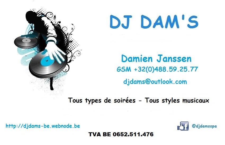 DJ DAM'S soirée tous style musicaux