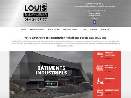 Création du site Constructions Louis à Rochefort