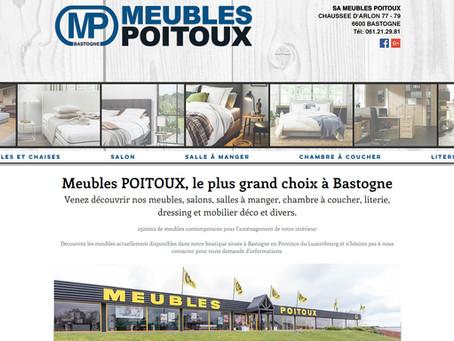 Création site Meubles Poitoux à Bastogne