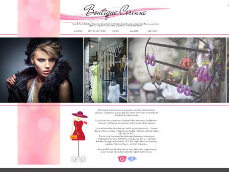 Création du nouveau site internet de la Boutique Corinne à Namur